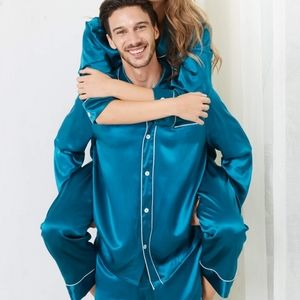 Lily silk pajamas new with tag Turquoise